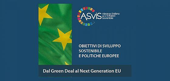 """Quaderno """"Obiettivi di sviluppo sostenibile e politiche europee - Dal Green deal al Next generation Eu"""""""