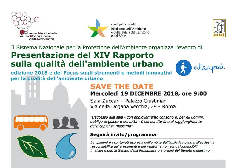 Il Sistema nazionale per la protezione dell Ambiente (Ispra) organizza  l evento di Presentazione del XIV Rapporto sulla qualità dell ambiente  urbano ... 178aa8dd500
